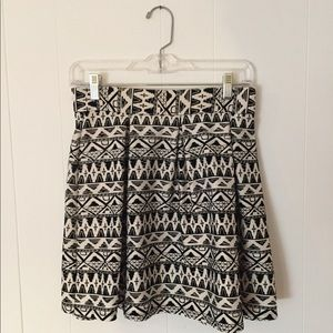 Forever 21 - Pleated Tribal Mini Skirt - Size M